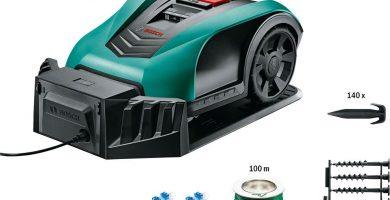 cortacésped Bosch Indego 350 con accesorios